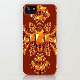 Imperial Golden Topaz gems Jewelry designs iPhone Case