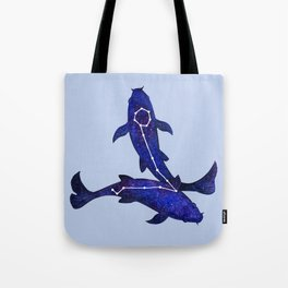 Astrological sign pisces constellation Tote Bag