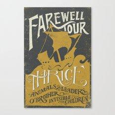 Thrice Farewell Tour Alternate (Limited) Canvas Print