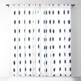 Paint Dabs in Blue Blackout Curtain