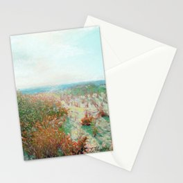 Island Beach, Bright New Day1 Oil Pastel Drawing Stationery Cards