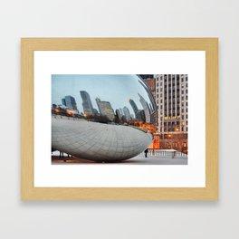 Chicago Bean - Big City Lights Framed Art Print