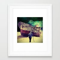 ship Framed Art Prints featuring Ship by Cs025