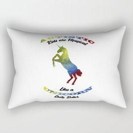Magical Unicorn Autism Awareness Day Autistic Gift Rectangular Pillow