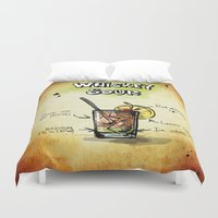 whiskey Duvet Covers featuring Whiskey Sour by jamfoto