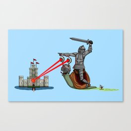 The Knight and the Snail - Random edition Canvas Print