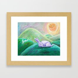 Fox Sunrise Framed Art Print