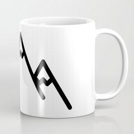 Snowy Mountains Logo Coffee Mug