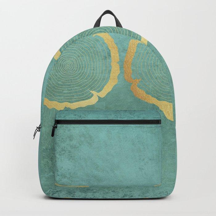 Gold Foil Tree Ring Backpack