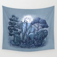 garden Wall Tapestries featuring Stone Garden by Terry Fan