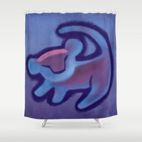 simba Shower Curtains featuring Grunge Simba Tree Art by EmeraldSora