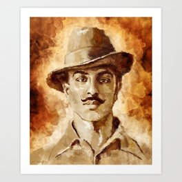 Shaheed-E-Azam Bhagat Singh Art Print