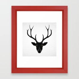 The Black Deer Framed Art Print