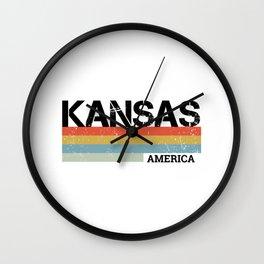 Kansas Design Gift & Souvenir For Kansas Print Wall Clock