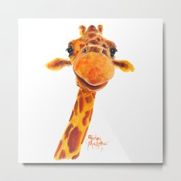 Nosey Giraffe ' MaDGe ' by Shirley MacArthur Metal Print