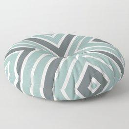Chevron Gray & White Stripes Floor Pillow