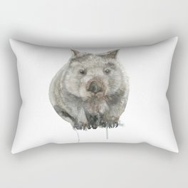 Wombat watercolour Rectangular Pillow