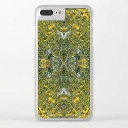 Brilliant Yellow Brittle Bush Burst Pattern Clear iPhone Case