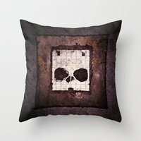 ed sheeran Throw Pillows featuring Block Ed by Sirenphotos