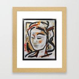 DUNE abstract portrait earth goddess Framed Art Print