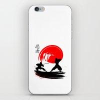 ninja iPhone & iPod Skins featuring Ninja by Emir Simsek