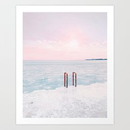 Lake Michigan Sunrise, Chicago Art Print