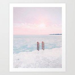 Lake Michigan Sunrise, Chicago Art Print