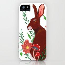Floral Rabbit iPhone Case