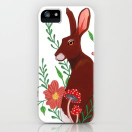 Floral Rabbit iPhone Case
