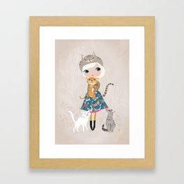 Cat Lover Framed Art Print