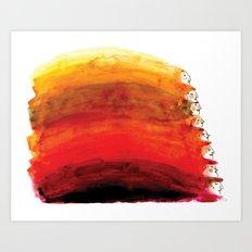 Rainbow of red hair Art Print