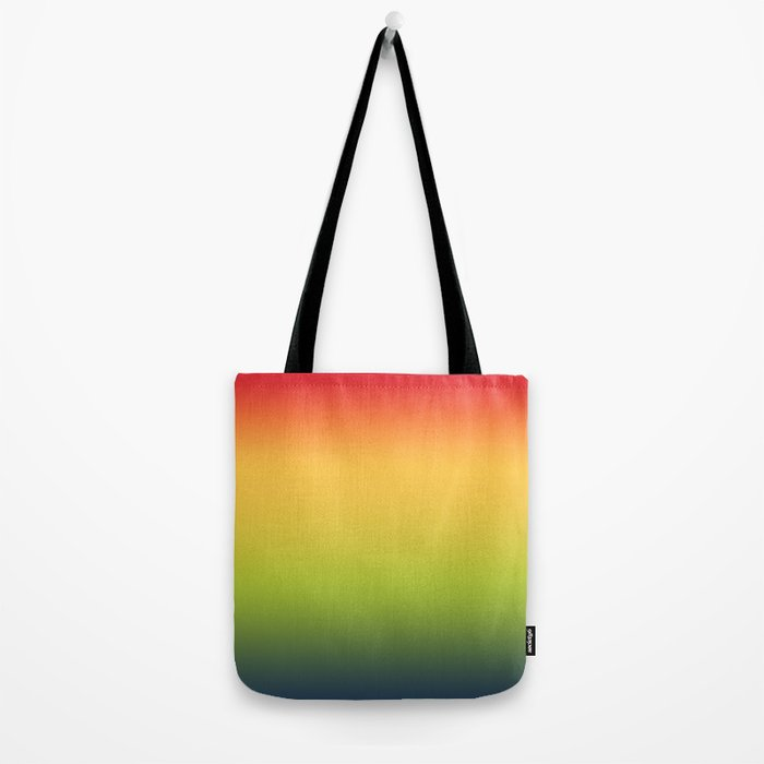 Abstract Colorful Tropical Blurred Gradient Tote Bag