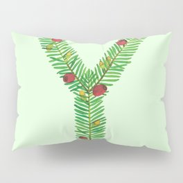Leafy Letter Y Pillow Sham
