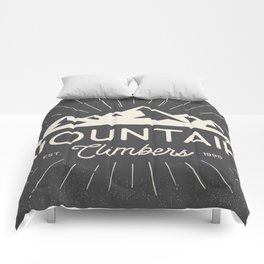 Retro Mountains Comforters