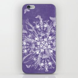 ghost bouquet and butterflies iPhone Skin