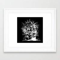 nightmare Framed Art Prints featuring Nightmare by George Peters