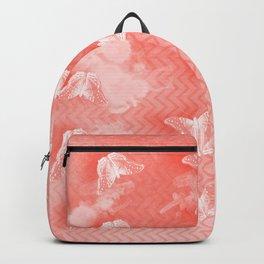 Ordered butterflies in rows Backpack