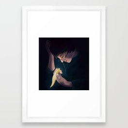 I open at the close. Framed Art Print