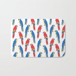 Parrots tropical birds jungle bird parrot art pattern gifts Bath Mat