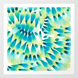 Peacock Brushstrokes Art Print