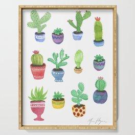 Watercolor Cactus + Succulents Serving Tray