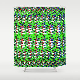 RGB Swiggle Shower Curtain
