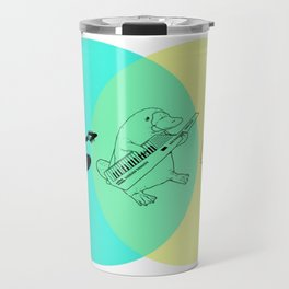 Keytar Platypus Venn Diagram Travel Mug