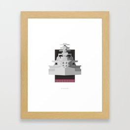 Battleship Bismark Framed Art Print