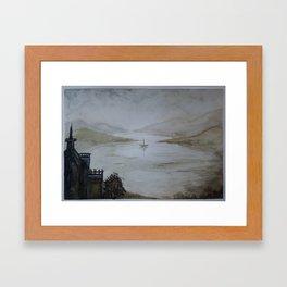 The Castle - a watercolor landscape Framed Art Print