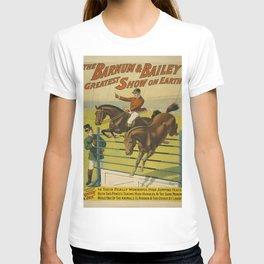 Vintage poster - Circus High Jumping Horses T-shirt