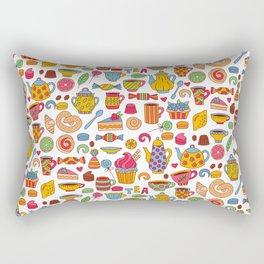 Tea time doodles Rectangular Pillow