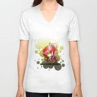 valentina V-neck T-shirts featuring Valentina by ASerna