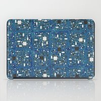 transistor iPad Cases featuring Blue tech by GrandeDuc
