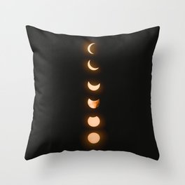 moon phases bright moon crescent moon astronomy night sky solar eclipse magic wicca lunar calendar Throw Pillow